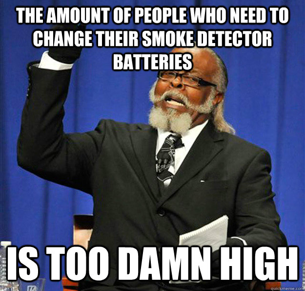The Amount Of People Who Need To Change Their Smoke Detector