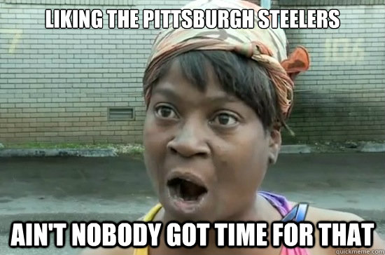 Liking The Pittsburgh Steelers Ain T Nobody Got Time For That