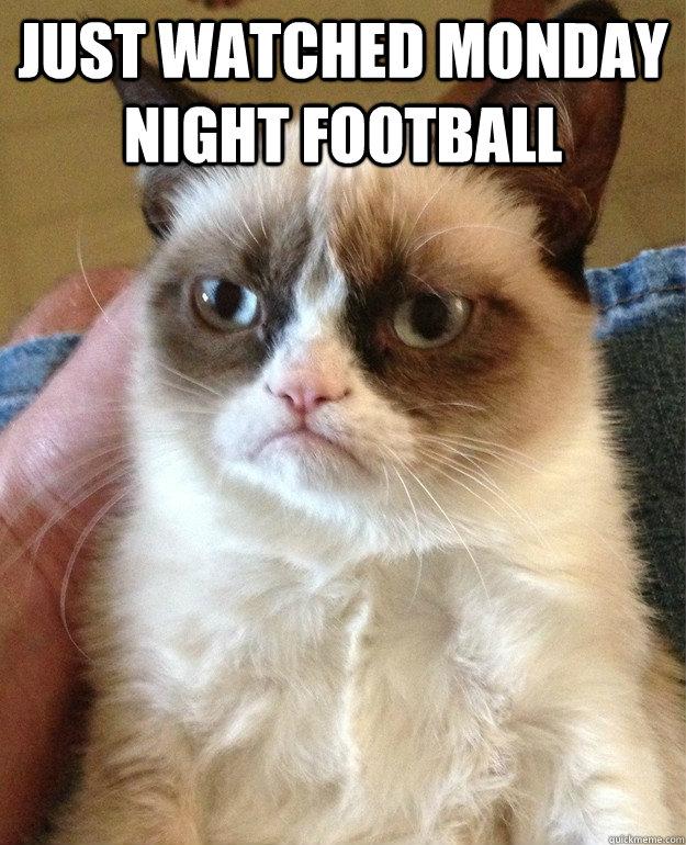 Just Watched Monday Night Football Grumpy Cat Quickmeme