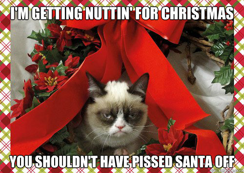 Im Gettin Nuttin For Christmas.I M Getting Nuttin For Christmas You Shouldn T Have Pissed