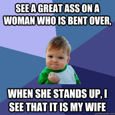 Wife bent over ass
