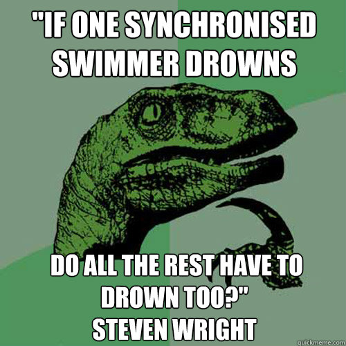 If one synchronised swimmer drowns do all the rest have to