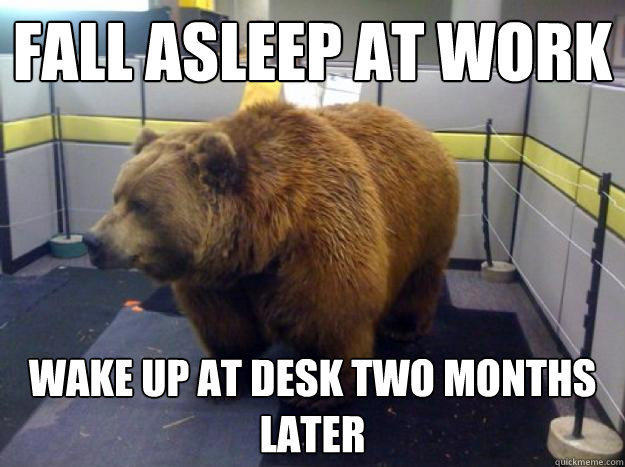 Fall Asleep At Work Wake Up Desk Two