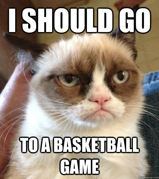 I Should Go To A Basketball Game Good Day Grumpy Cat
