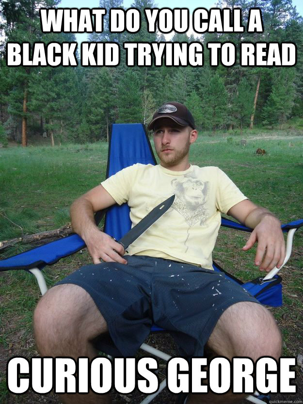 What Do You Call A Black Kid Trying To Read Curious George