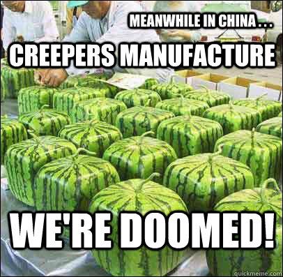 funny minecraft creeper memes