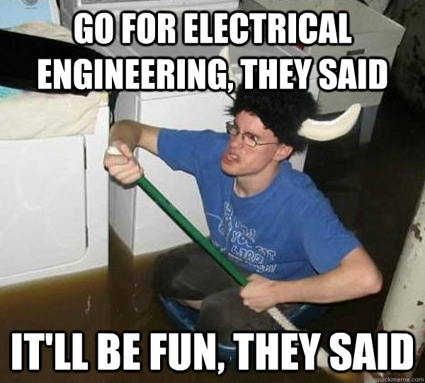 Go For Electrical Engineering They Said It Ll Be Fun They Said