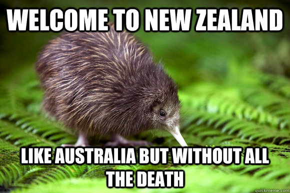 Welcome To New Zealand Like Australia But Without All The Death Misc Quickmeme