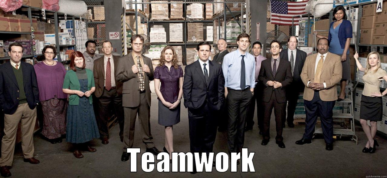 The Office Teamwork Quickmeme