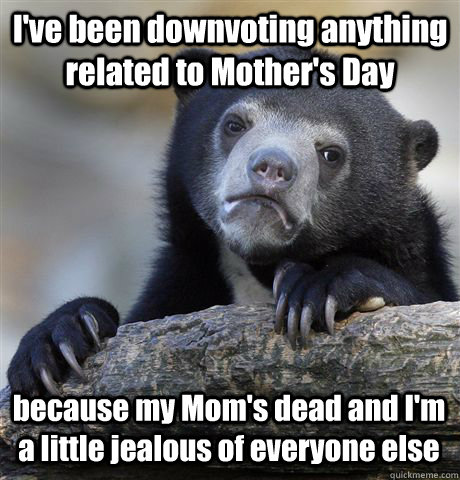 I've been downvoting anything related to Mother's Day