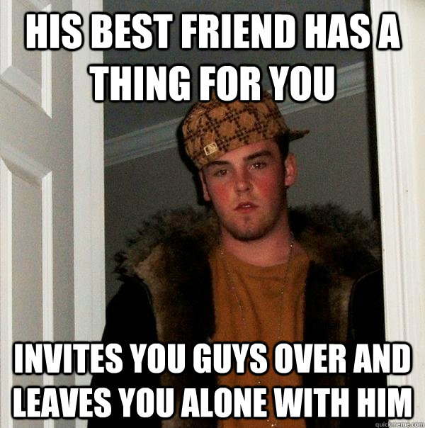 Guy place to a over invites his you when When A