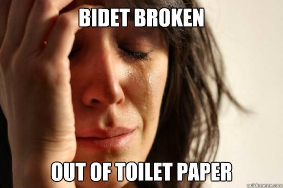 Bidet Broken Out Of Toilet Paper First World Problems Quickmeme