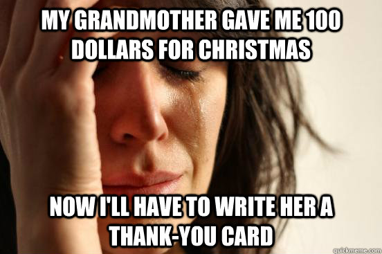 My Grandmother Gave Me 100 Dollars For Christmas Now I Ll
