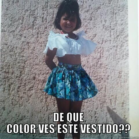 Vestido Bicolor Quickmeme