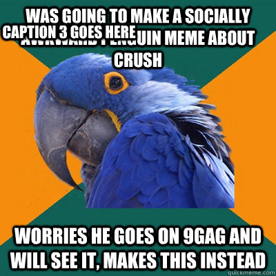 Was Going To Make A Socially Awkward Penguin Meme About Crush