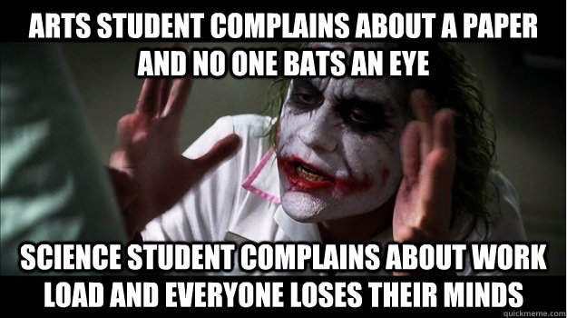 Arts Student Complains About A Paper And No One Bats An Eye
