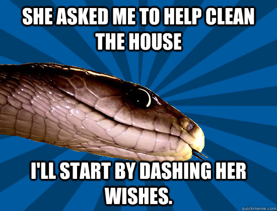 She Asked Me To Help Clean The House I Ll Start By Dashing Her