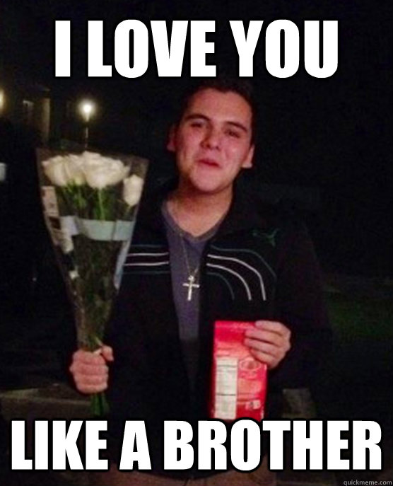 I Love You Like A Brother Friendzone Johnny Quickmeme