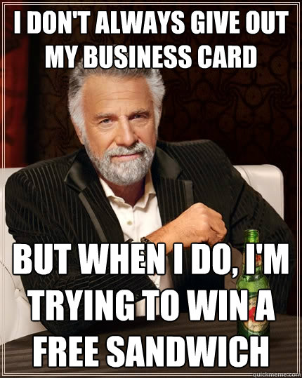 Image result for Business Card meme