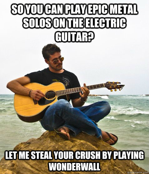 So You Can Play Epic Metal Solos On The Electric Guitar Let Me