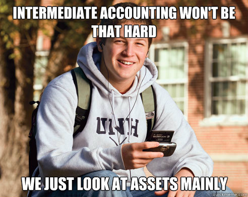 Intermediate Accounting Won T Be That Hard We Just Look At