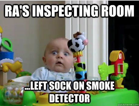 Ra S Inspecting Room Left Sock On Smoke Detector Scared Baby