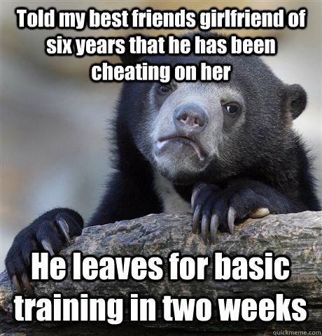 cheating my friends girlfriend