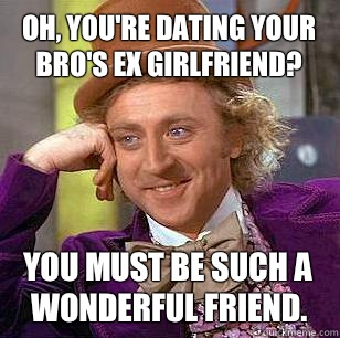 What do you do when your ex girlfriend is dating your friend