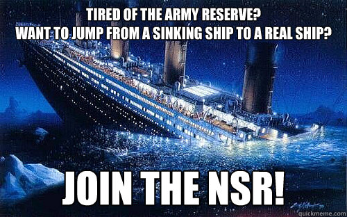 Tired Of The Army Reserve Want To Jump From A Sinking Ship