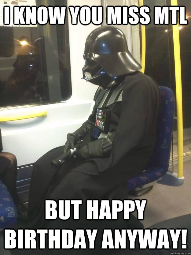 Your Powers Are Weak Old Manfodi Happy Birthday Meme Creator Darth Vader Meme Generator At Memecreatororg Birthday Meme On Me Me
