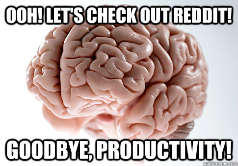 ooh! let's check out reddit! goodbye, productivity