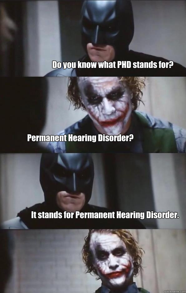 Do You Know What Phd Stands For Permanent Hearing Disorder It
