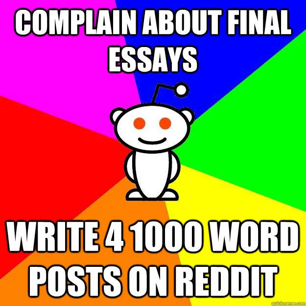 Reddit how to write essays