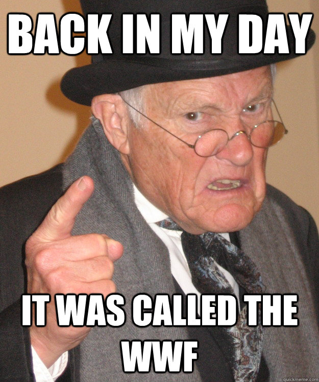 Back In My Day It Was Called The Wwf Back In My Day Quickmeme