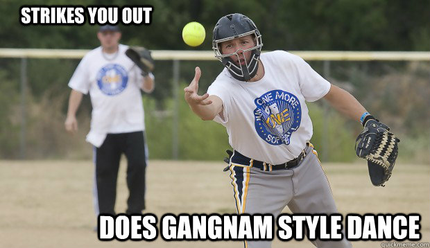 Strikes You Out Does Gangnam Style Dance Slow Pitch Softball