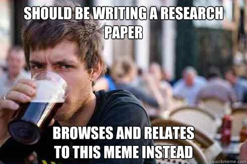 research paper meme