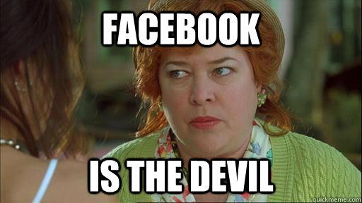 Image result for facebook is the devil