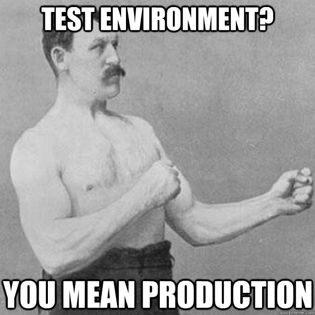 Image result for real men test in production