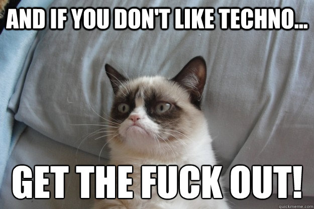 And If You Don T Like Techno Get The Fuck Out Misc Quickmeme