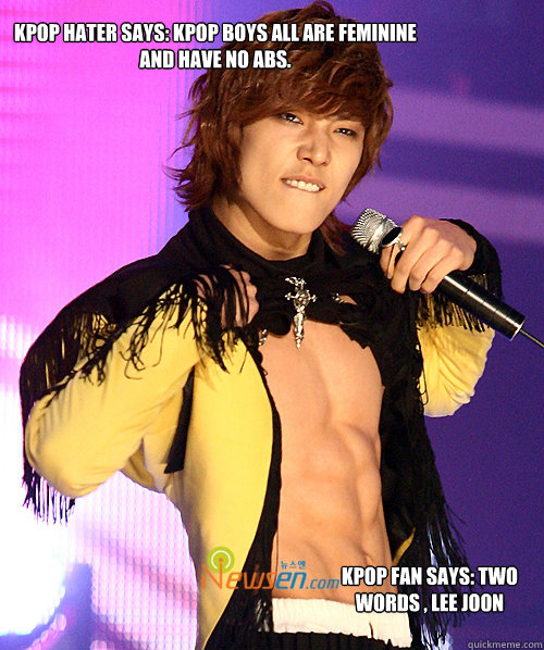 Kpop Hater Says Kpop Boys All Are Feminine And Have No Abs Kpop