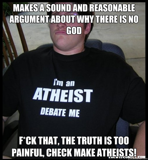 Makes A Sound And Reasonable Argument About Why There Is No God F