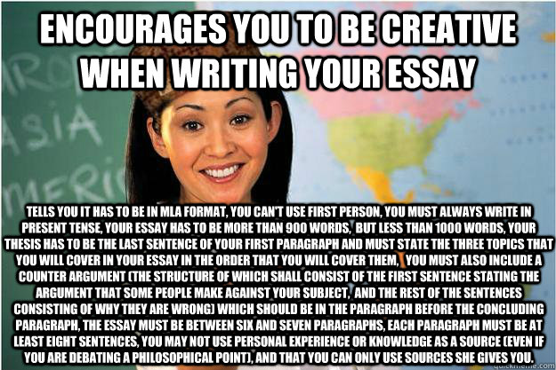 Encourages you to be creative when writing your essay Tells
