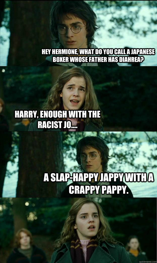 Hey Hermione What Do You Call A Japanese Boxer Whose Father Has