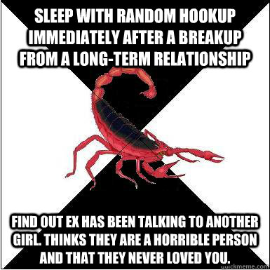 what to do after a random hook up
