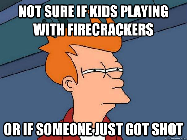 Not Sure If Kids Playing With Firecrackers Or If Someone