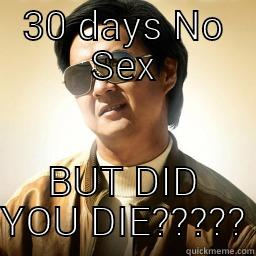 no sex for a month
