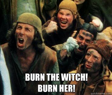 Znalezione obrazy dla zapytania burn the witch python\