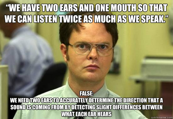 Image result for two ears one mouth funny""