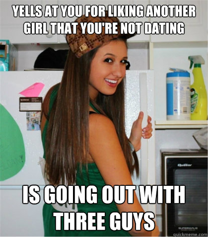 guy you like is dating another girl